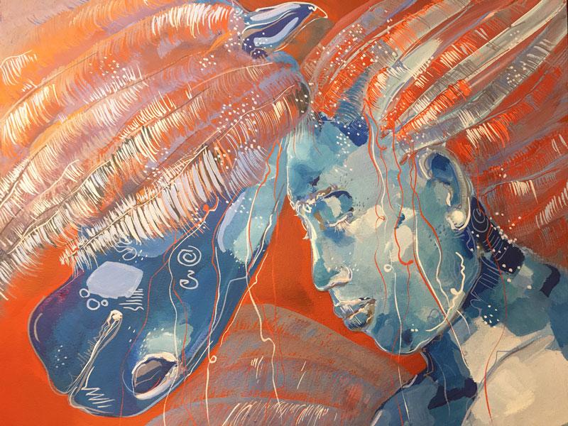 "Peinture ""Magie bleue"""