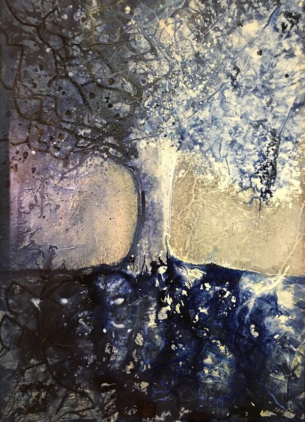 """Encre """"Nature bleue"""""""